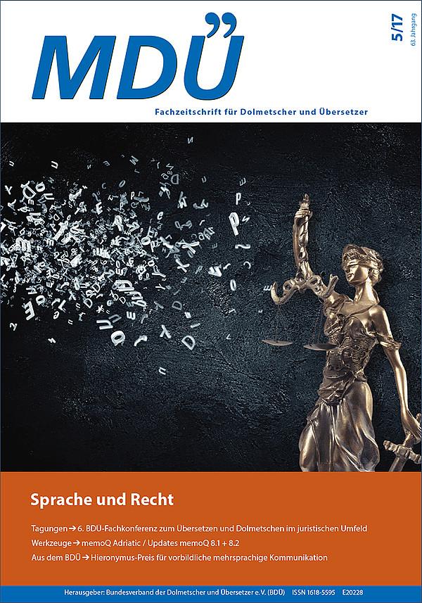 MDÜ - Die Fachzeitschrift für Dolmetscher und Übersetzer