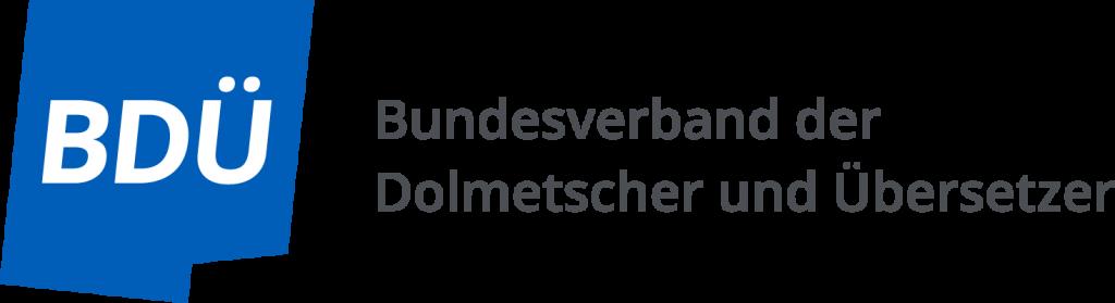 Neues Logo des Berufsverbands Dolmetscher und Übersetzer.